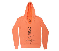 YLS V-Neck - Kapuzenpullover für Damen - Orange