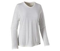 L/S Merino Daily V-Neck - Langarmshirt für Damen - Grau
