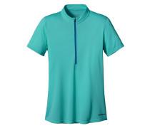 S/S Fore Runner Zip Neck - T-Shirt für Damen - Blau