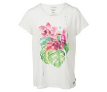 Tropical Floral - T-Shirt für Damen - Weiß