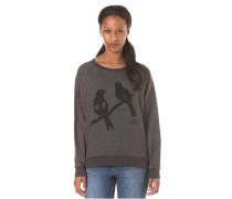 Love Birds Crewneck - Sweatshirt für Damen - Grau