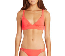 Sol Searcher Banded - Bikini Oberteil für Damen - Rot