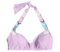 Halter - Bikini Oberteil für Damen - Lila