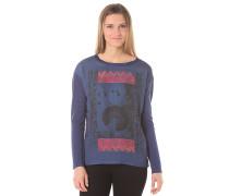 Slub - Langarmshirt für Damen - Blau