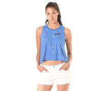 Two Tone Jersey Swing - Top für Damen - Blau