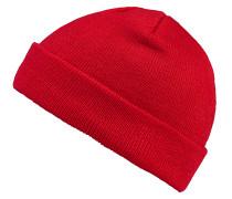 Short Cuff Knit Mütze - Rot