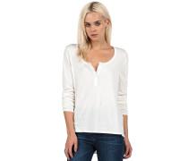 Lived In O/D Henley - T-Shirt für Damen - Weiß