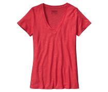 Necessity V-Neck - T-Shirt für Damen - Rot
