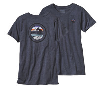 Rivet Logo Cotton/Poly Crew - T-Shirt für Damen - Blau