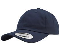 Low Profile Cotton Twill Snapback Cap - Blau