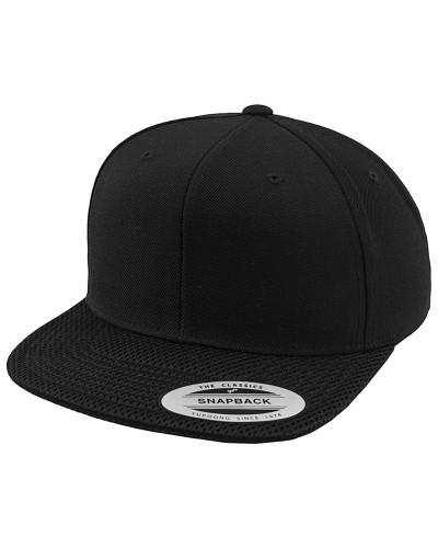 Mesh Visor Snapback Cap - Schwarz