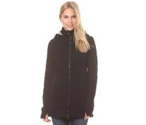 Long Quilted - Strickjacke für Damen - Schwarz