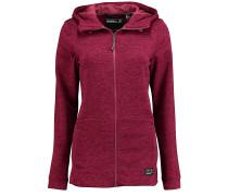 Hoody Fleece - Kapuzenjacke für Damen - Rot