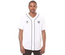 Baseball Jersey - Langarmshirt für Herren - Weiß