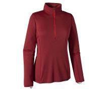 Cap MW Zip Neck - Funktionsunterwäsche für Damen - Rot