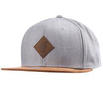 6P SB Linen Snapback Cap - Grau