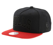 Rubber Wordmark Chicago BullsSnapback Cap Schwarz