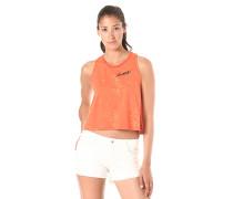 Two Tone Jersey Swing - Top für Damen - Orange