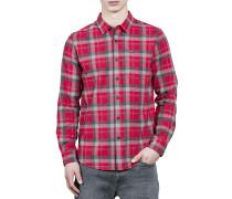 Caden L/S - Hemd für Herren - Rot