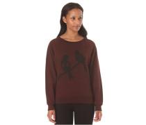 Love Birds Crewneck - Sweatshirt für Damen - Rot