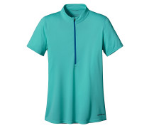 S/S Fore Runner Zip Neck - T-Shirt für Damen - Blau