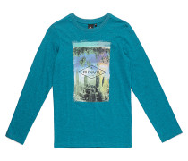 Palm Building - Langarmshirt für Jungs - Blau