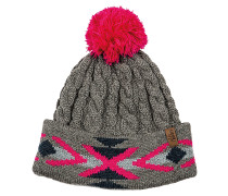 Cable Navajo - Mütze für Damen - Grau