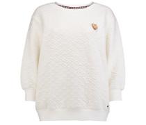 Quilted Crew - Sweatshirt für Damen - Weiß