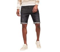3301 Slim 1\2-Elto Black Superstretch - Shorts