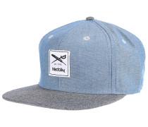 Flag Chambray Snapback Cap - Blau