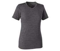 Merino Daily V-Neck - T-Shirt für Damen - Schwarz