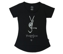 YLS Drop Back - T-Shirt für Damen - Schwarz