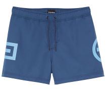 Badehose Plus-Minus-Design - Boardshorts - Blau