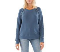 Cross Lace - Sweatshirt für Damen - Blau