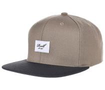 Pitchout 6-Panel Snapback Cap - Beige