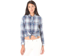 Tacoma 1Pkt BF Lirt Flannel Check - Hemd für Damen - Blau