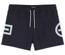 Badehose Plus-Minus-Design - Boardshorts - Schwarz