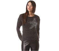 Queens Crew Neck - Strickpullover für Damen - Grau