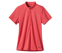 S/S Fore Runner Zip Neck - T-Shirt für Damen - Pink