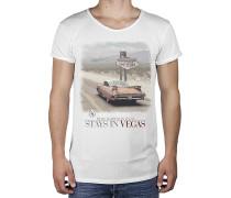 Vegas R-Neck Long Back - T-Shirt für Herren - Weiß