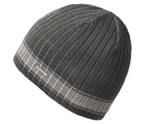 Ribbed PinlineMütze Grau