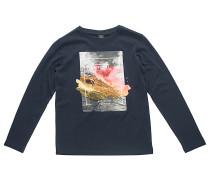 Satured Action Print - Langarmshirt für Jungs - Blau
