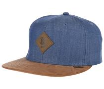 6P SB Linen Snapback Cap - Blau