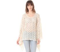 Knit Poncho - Oberbekleidung für Damen - Weiß