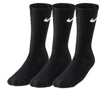 Value Cotton Crew 3 Pack Socken - Schwarz