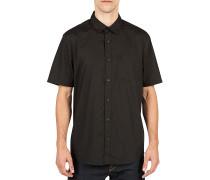 Everett Solid S/S - Hemd für Herren - Schwarz