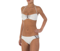 Coachella Bandeau - Bikini Set - Weiß