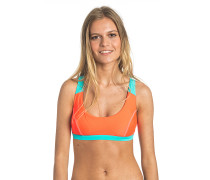 Criss Cross Crop - Top für Damen - Orange