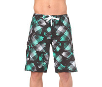 Big Flowercheck - Boardshorts - Schwarz