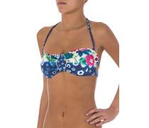 Shibori Bandeau - Bikini Oberteil für Damen - Blau